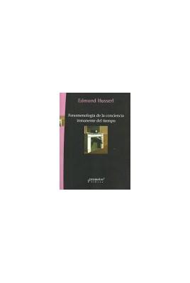 FenoFenomenologia de la conciencia inmanente del tiempo
