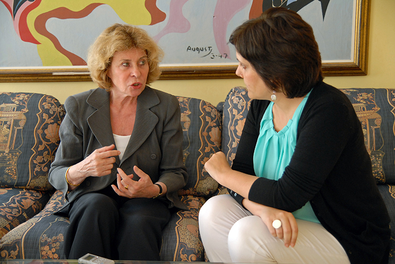 Catherine Millot, psicoanalista y escritora. Entrevista realizada en el Institut Français de Barcelona. Fotos: Manuel J. Mora.
