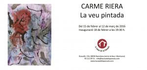 Exposició: La veu pintada, obra de Carme Riera @ La casa de la paraula